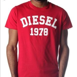 Diesel Vintage Classic 1978 Red Logo T-shirt L